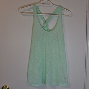 Old Navy Green Patterned Workout Tank